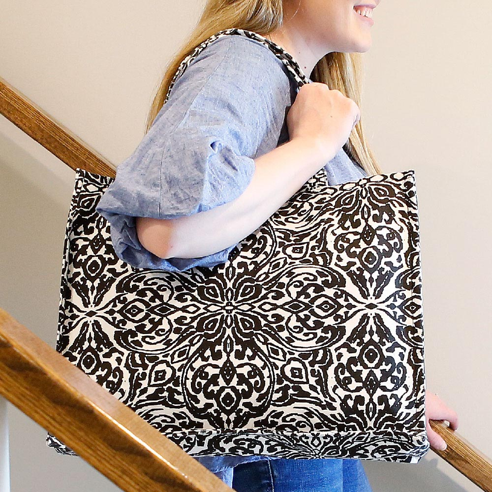 point blank black canvas tote