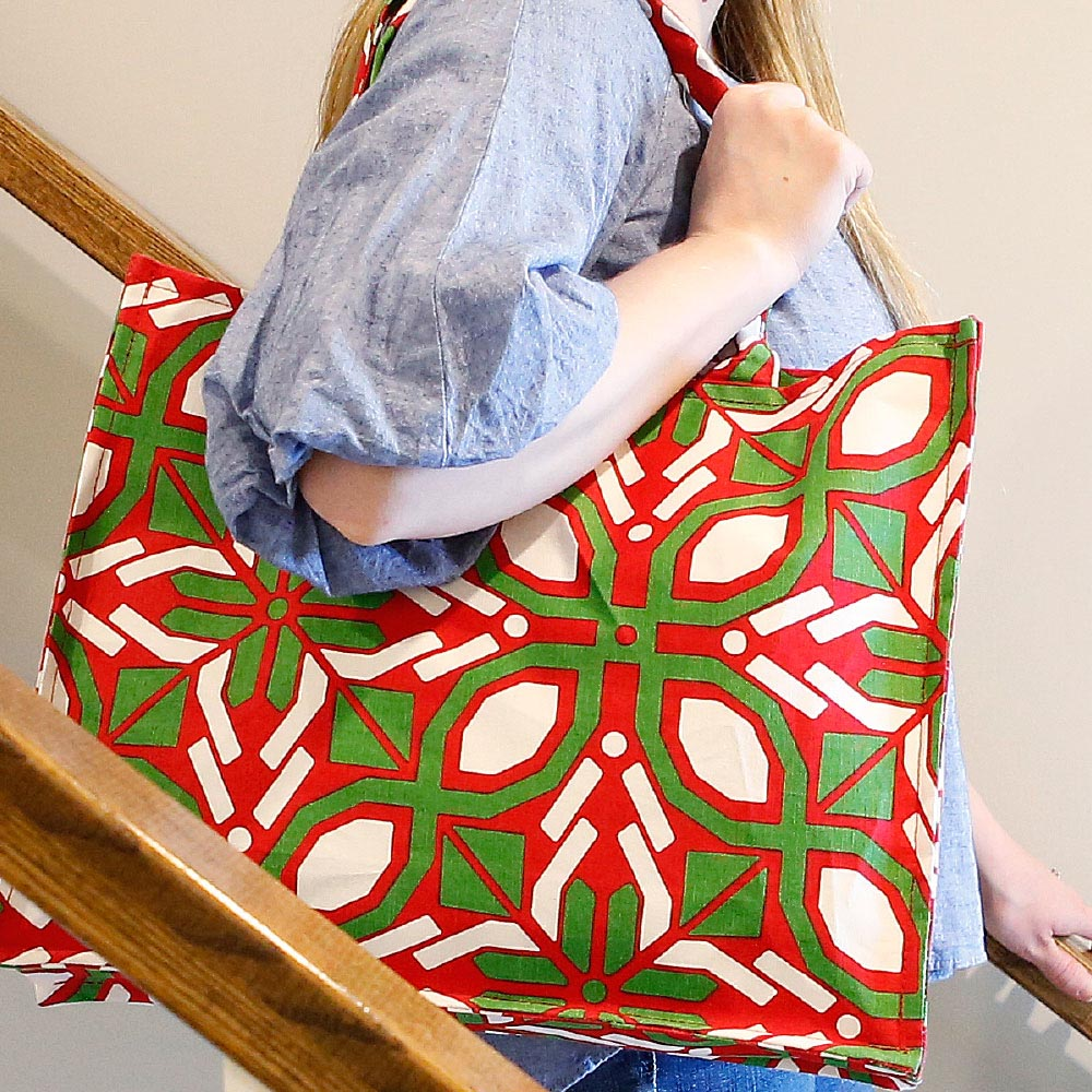 cantina holiday canvas tote