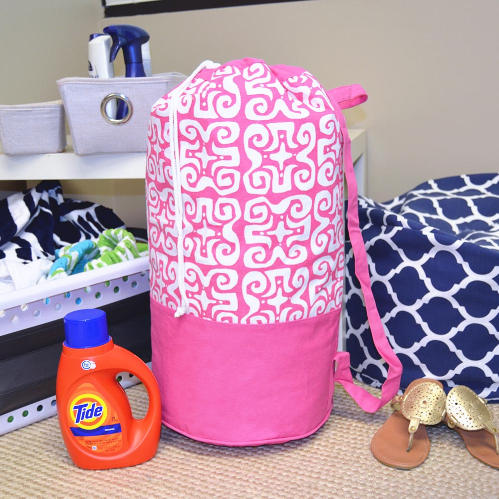 don't fret pink duffle bag