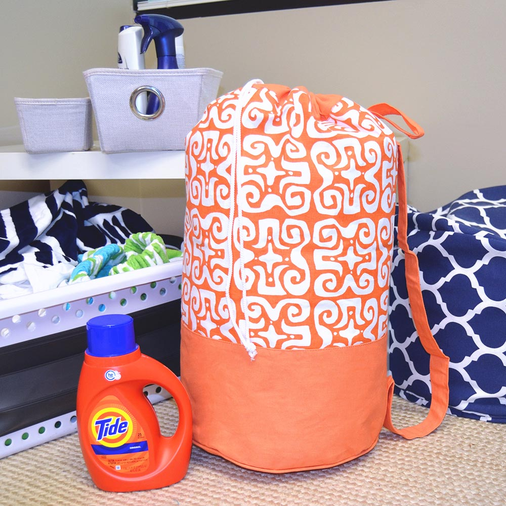 don't fret orange duffle bag