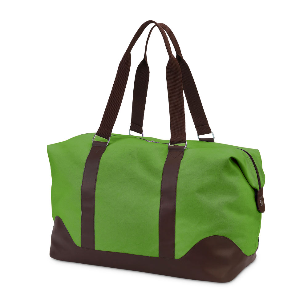 chandler green/chocolate duffle