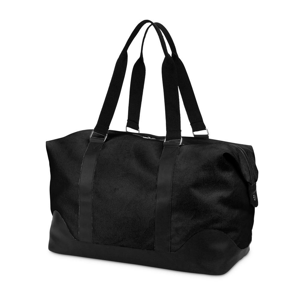 black nylon duffle