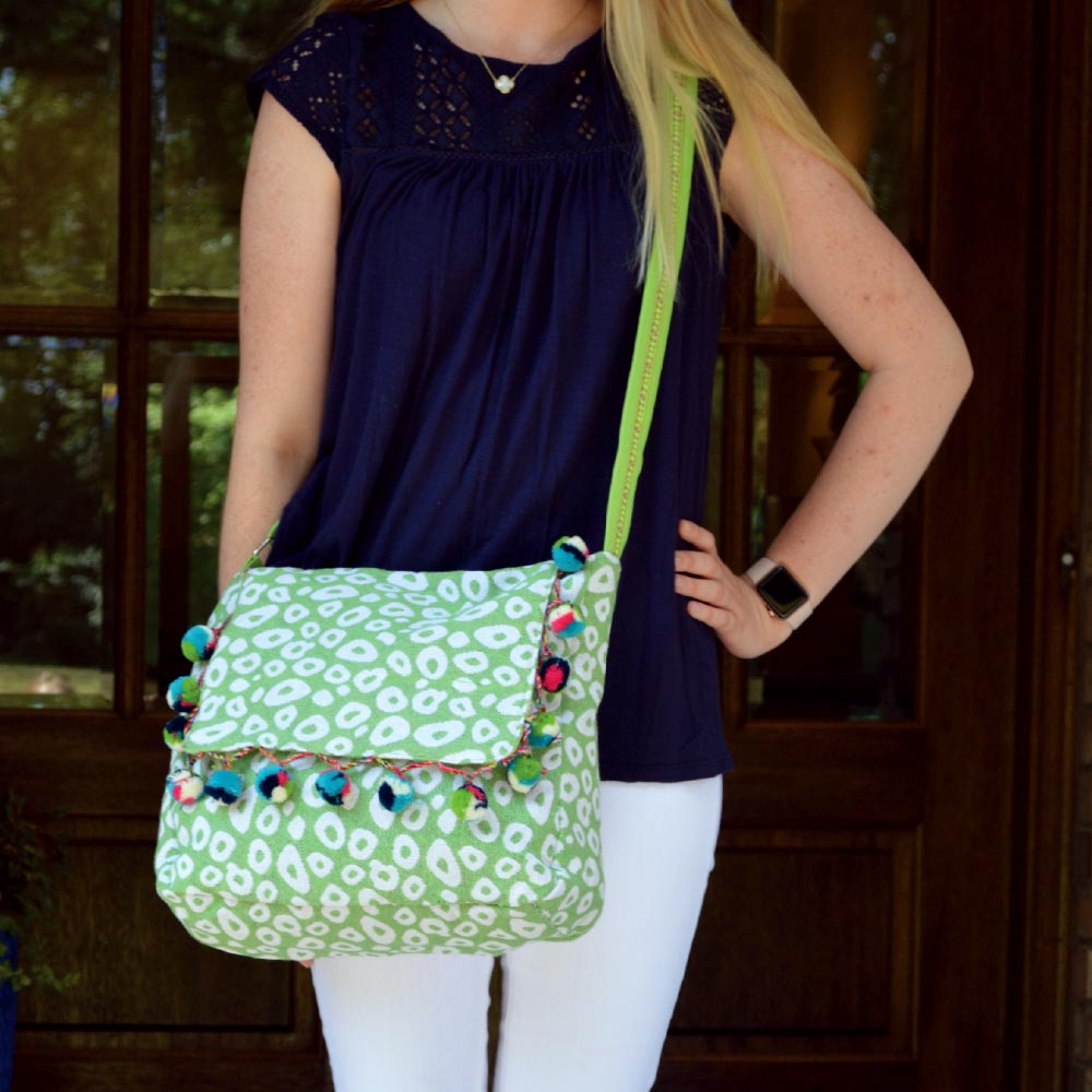 durry green spots messenger bag