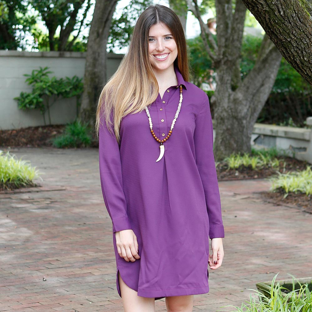 black plum turner dress