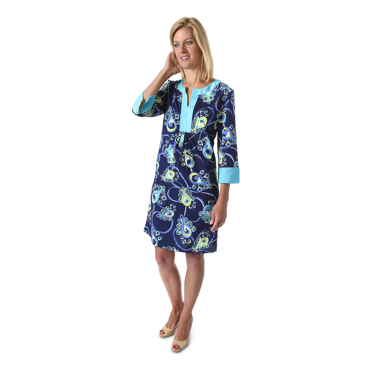 peacock blue crosby dress