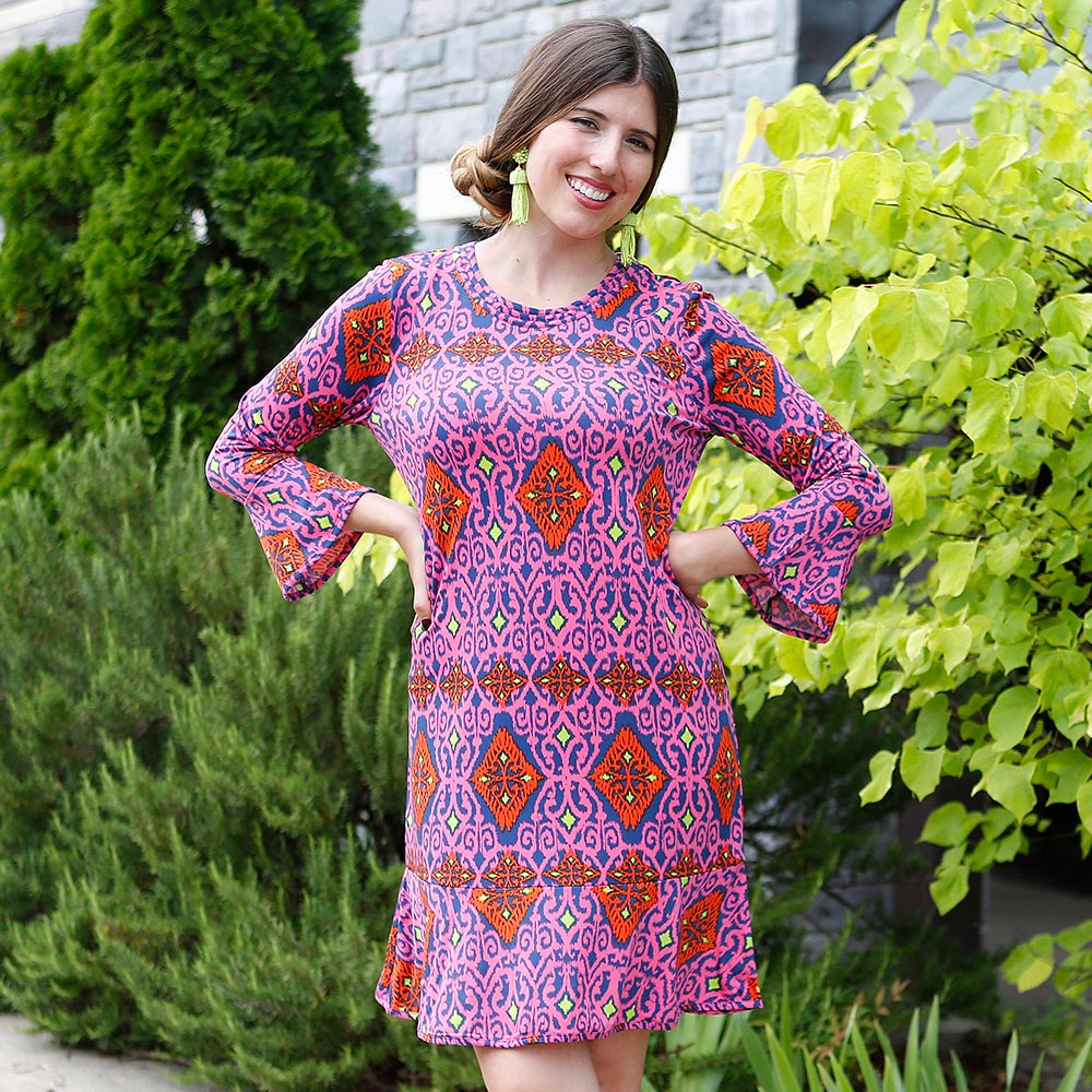 perfect zen mandy poly-knit dress