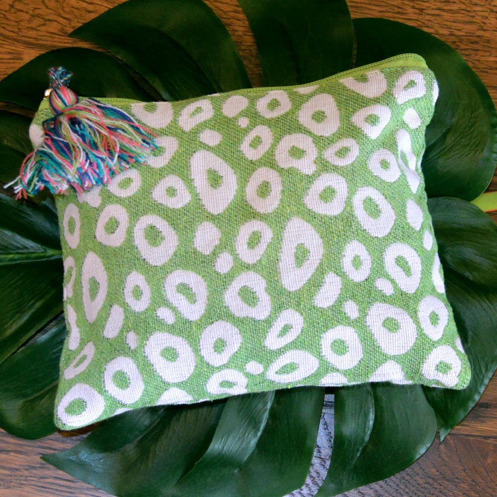 durry green spots zipper bag