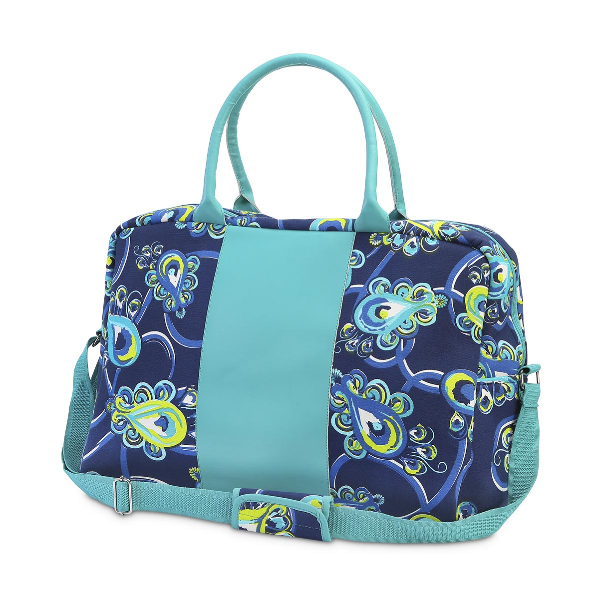 peacock blue large EVA duffle
