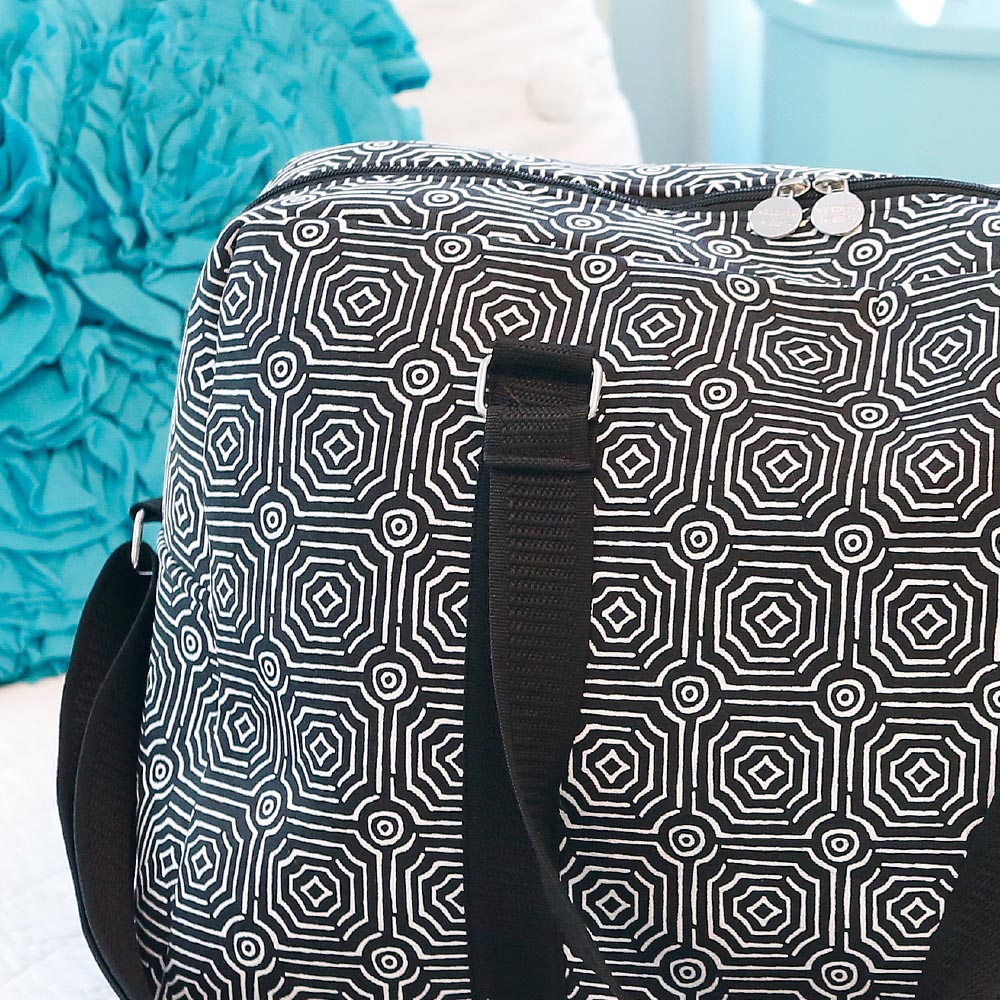 echo black large EVA duffle bag
