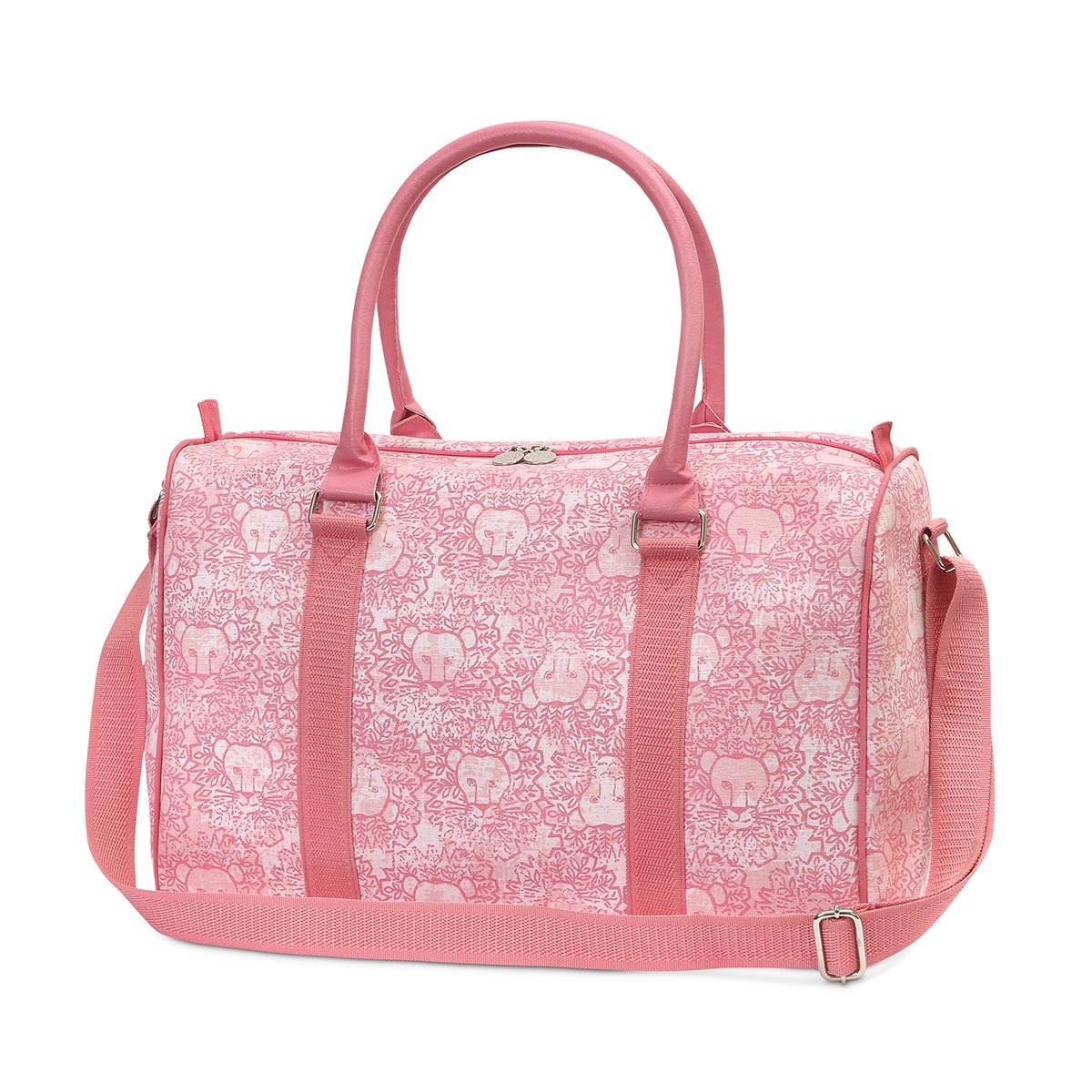 lion around pink EVA medium duffle