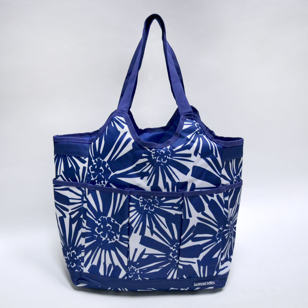 mosaic floral navy everything bag