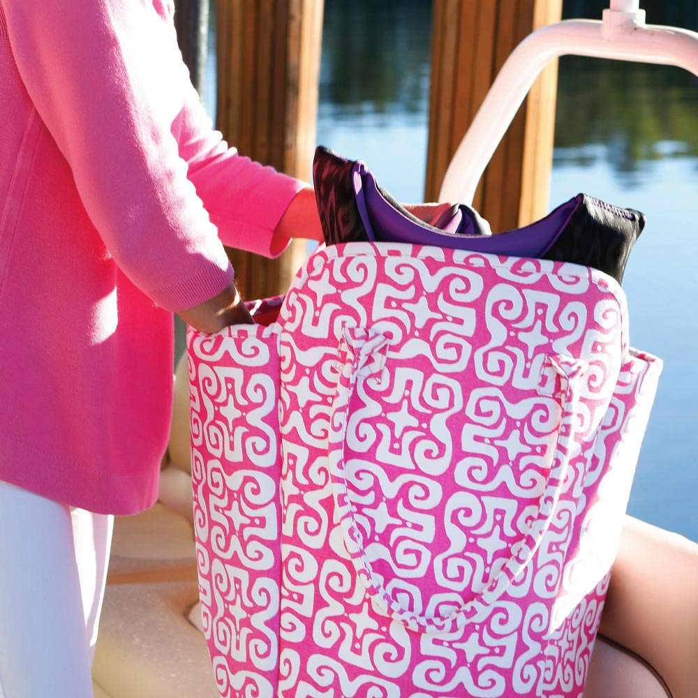 don't fret pink EVA heavy weight tote