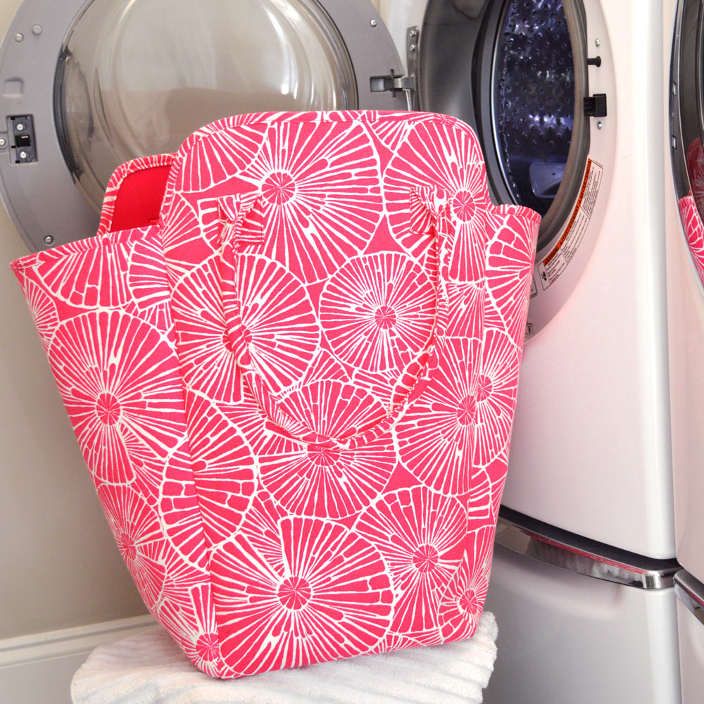 full circle pink EVA heavy weight tote