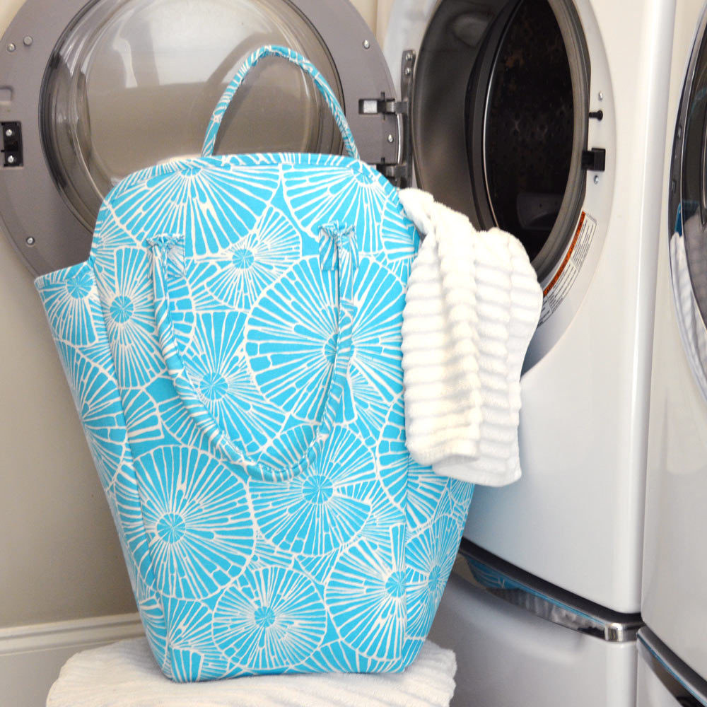 full circle turquoise beach and laundry EVA tote