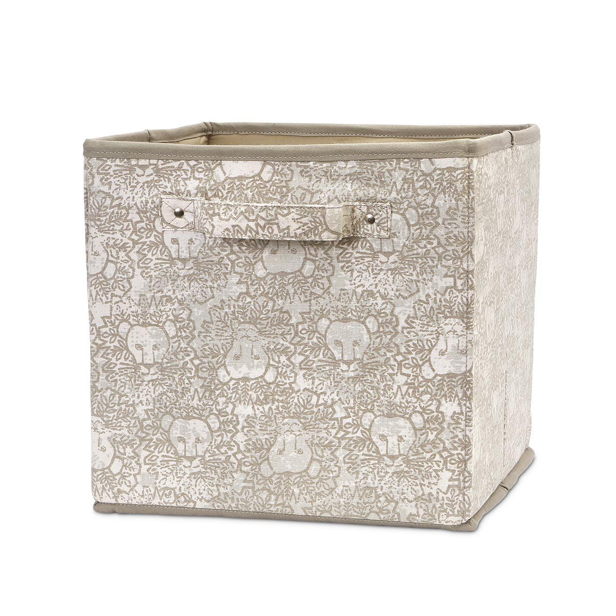 lion around khaki flat bin