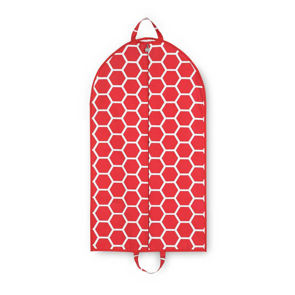 red bee line garment bag