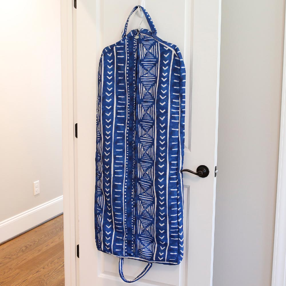 indigo daze full length garment bag