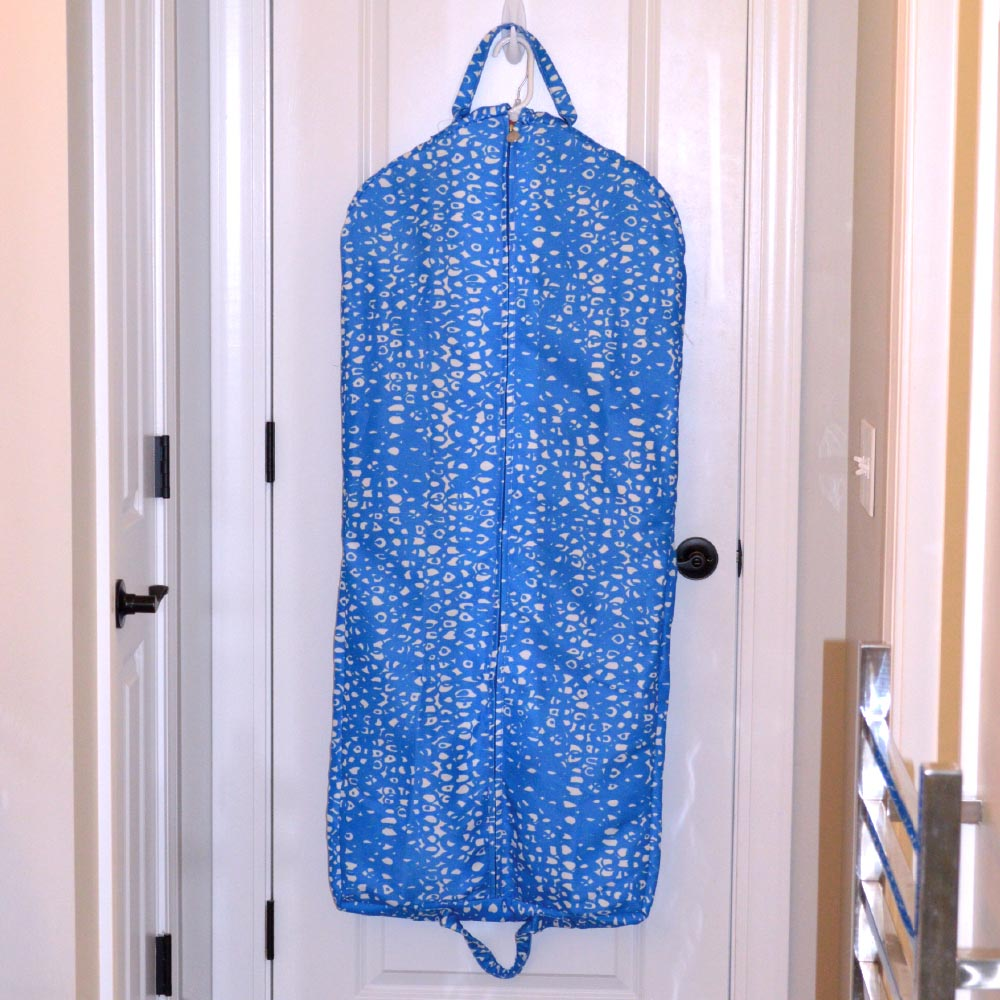 hoopla blue full length garment bag