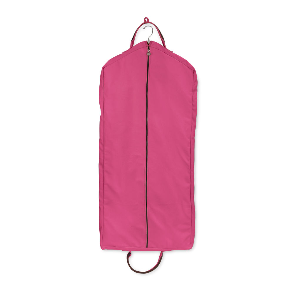 chandler pink/chocolate full length garment bag