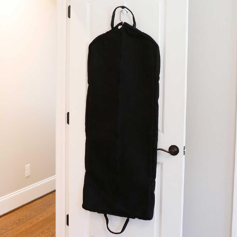chandler black full length garment bag