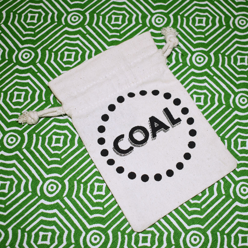 gift card holder with drawstring coal