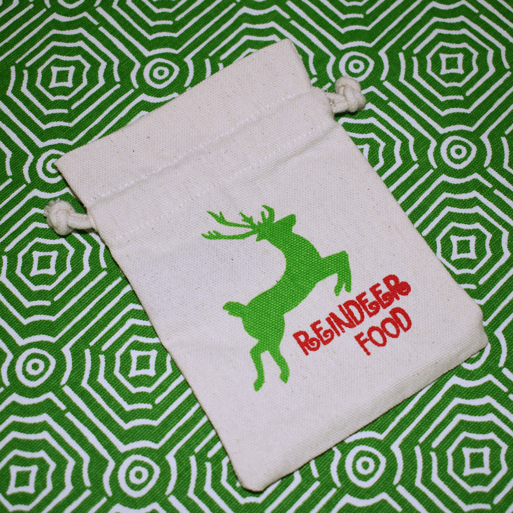 gift card holder with drawstring reindeer food