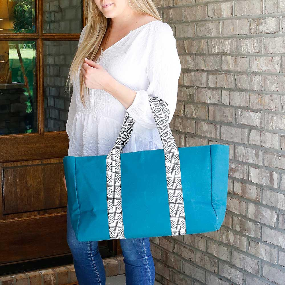 teal grand slam tote