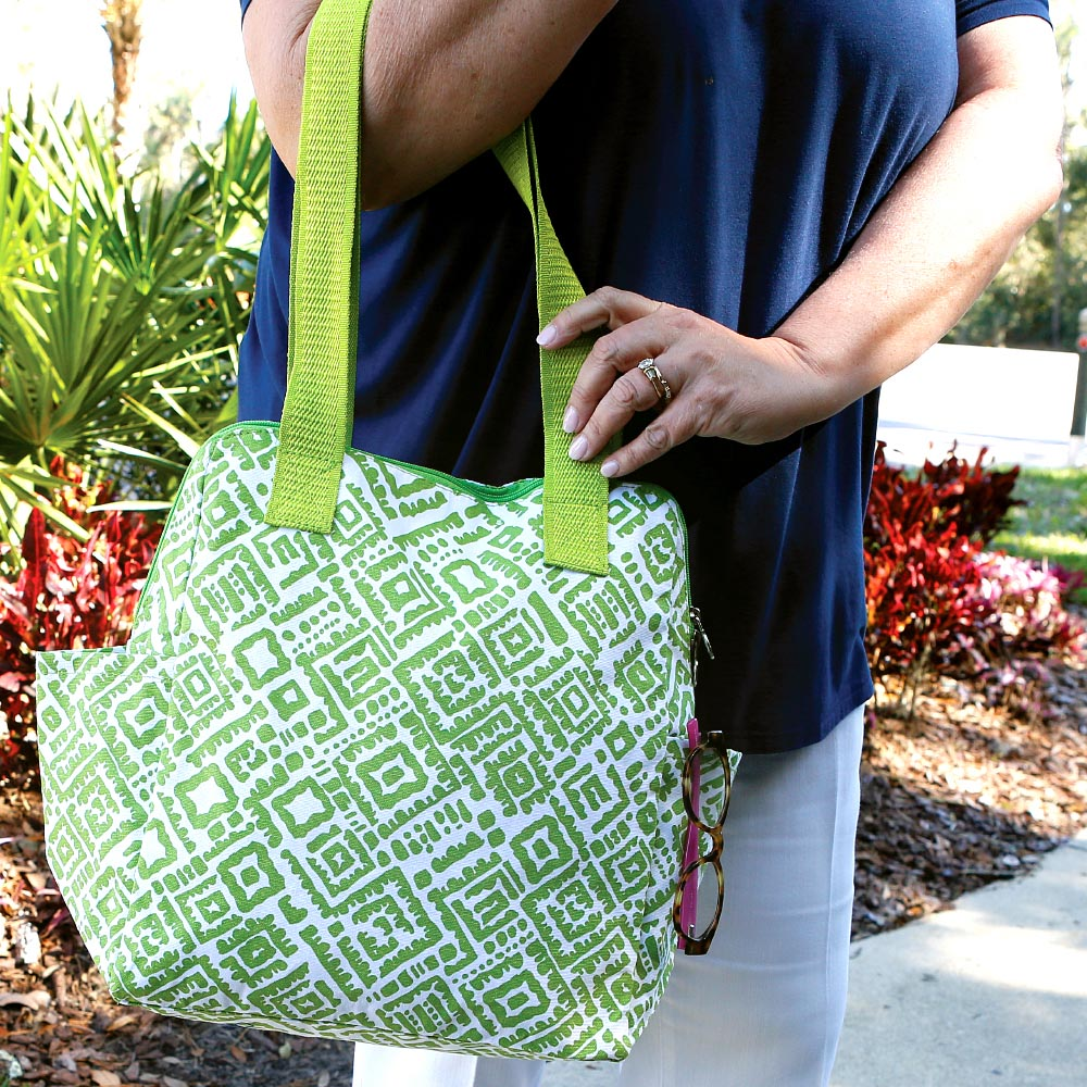 alma lime green high roller bag