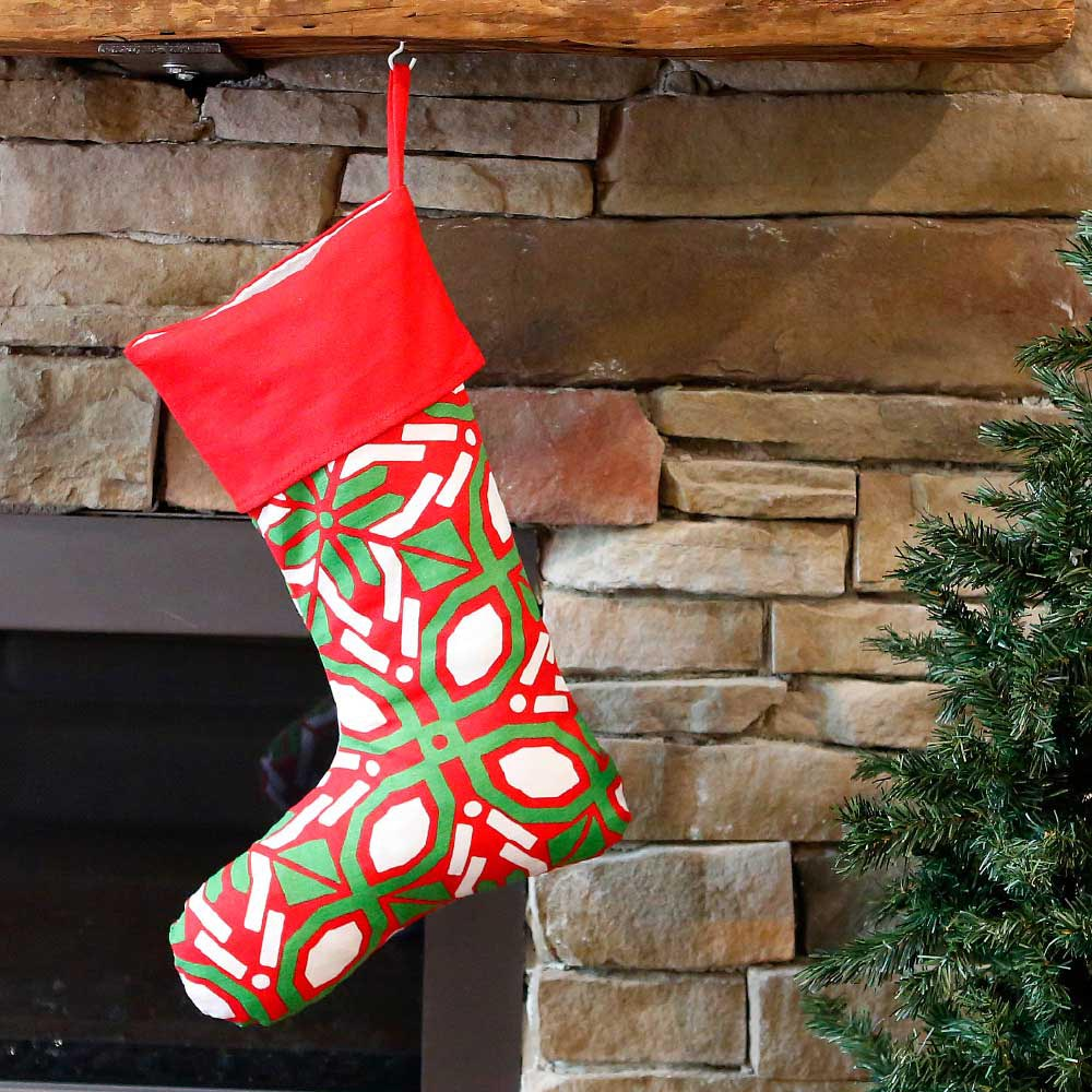 cantina holiday stocking w/red top