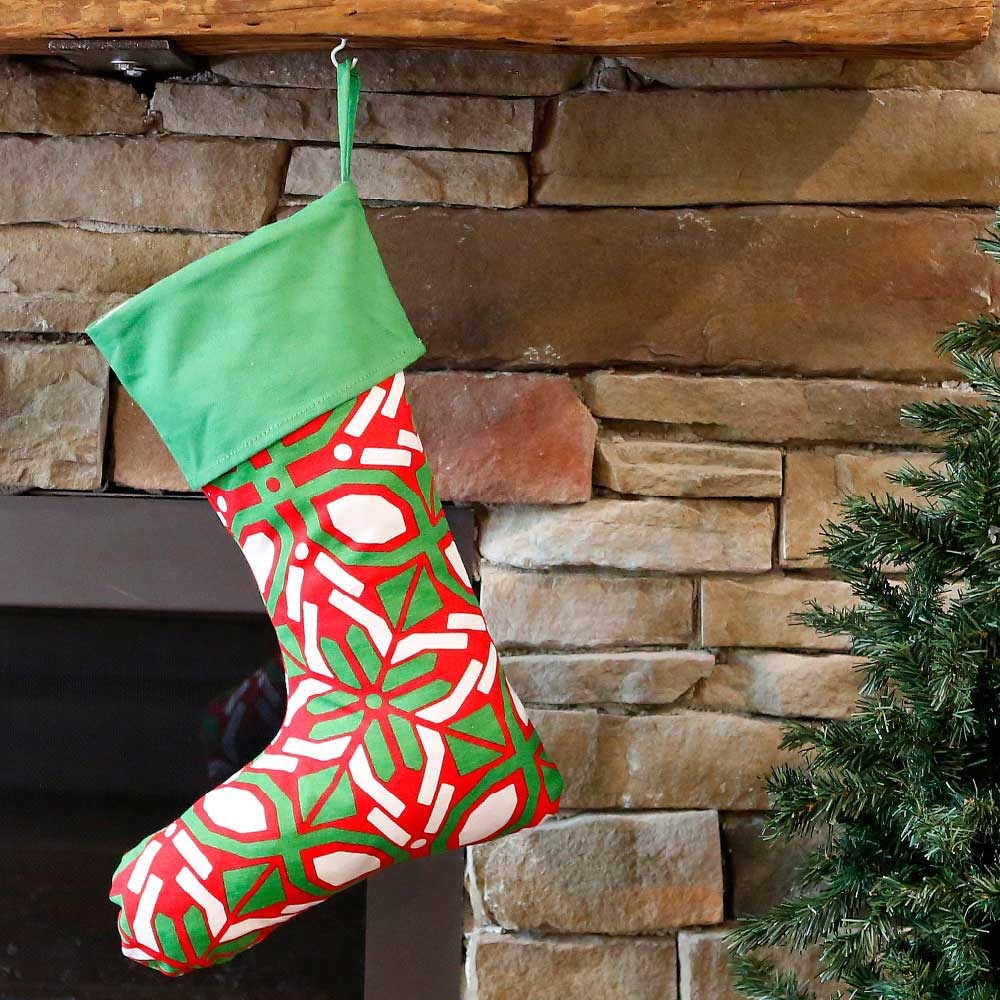 cantina holiday stocking w/green top