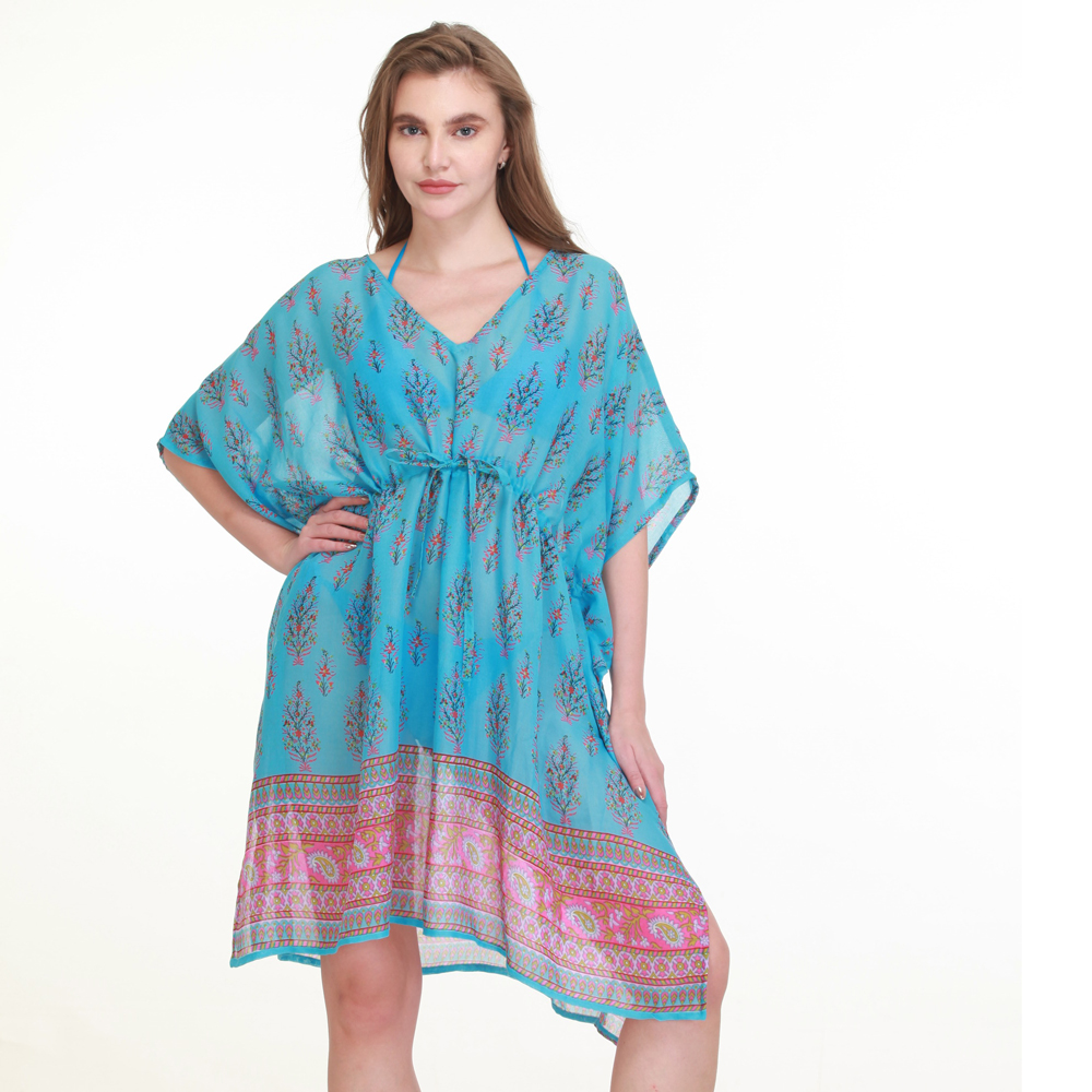 turq cotton printed cover up