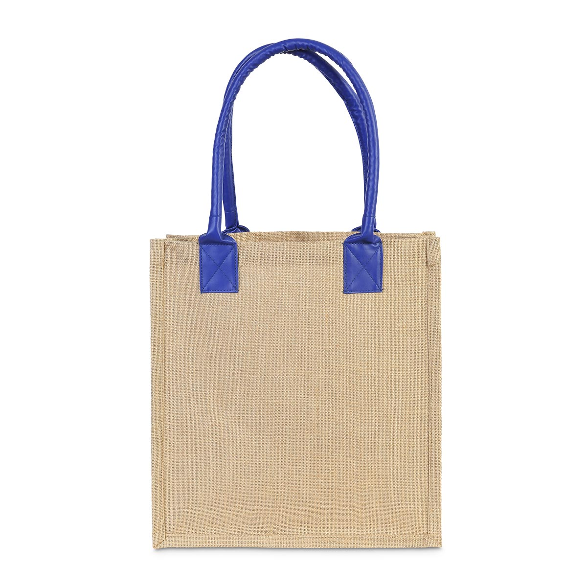 jute khaki market tote royal handle