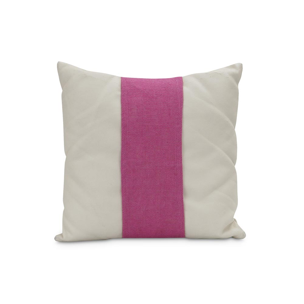 "jute pillow band pink, fits standard 16"" pillow"