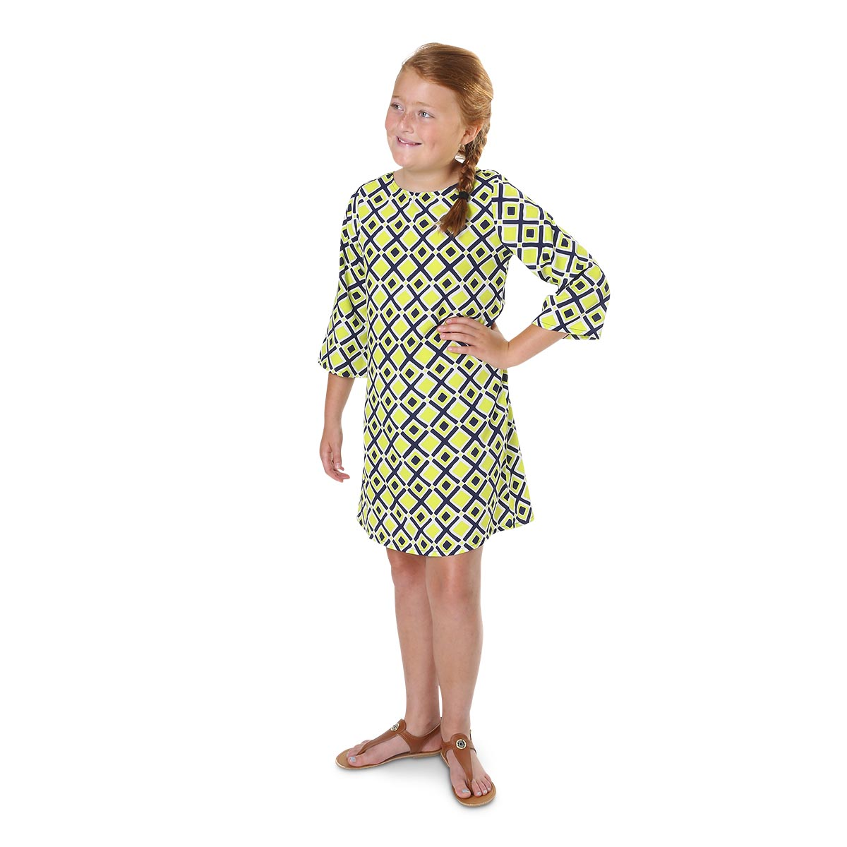 times square lime ellie kids dresses