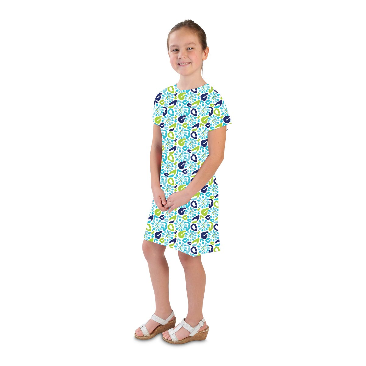 cha cha cheetah blue hannah kids dresses