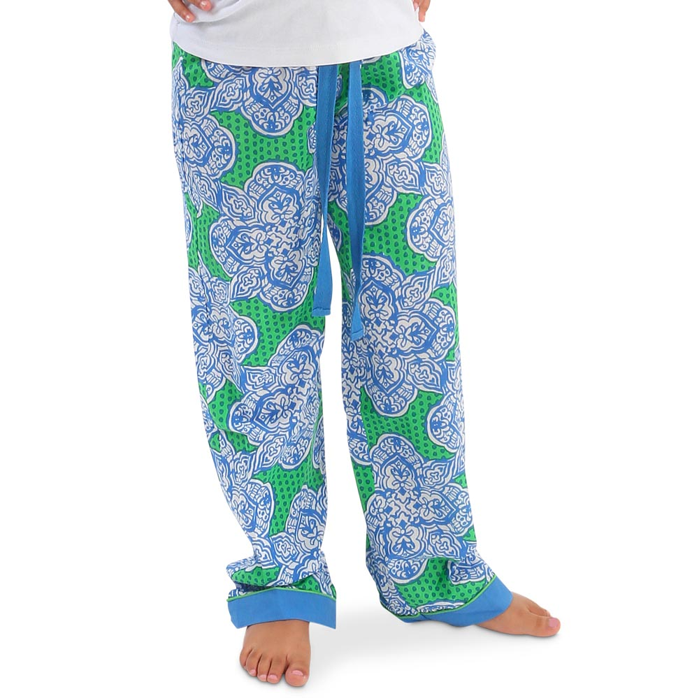mai tai green/royal kids lounge pants