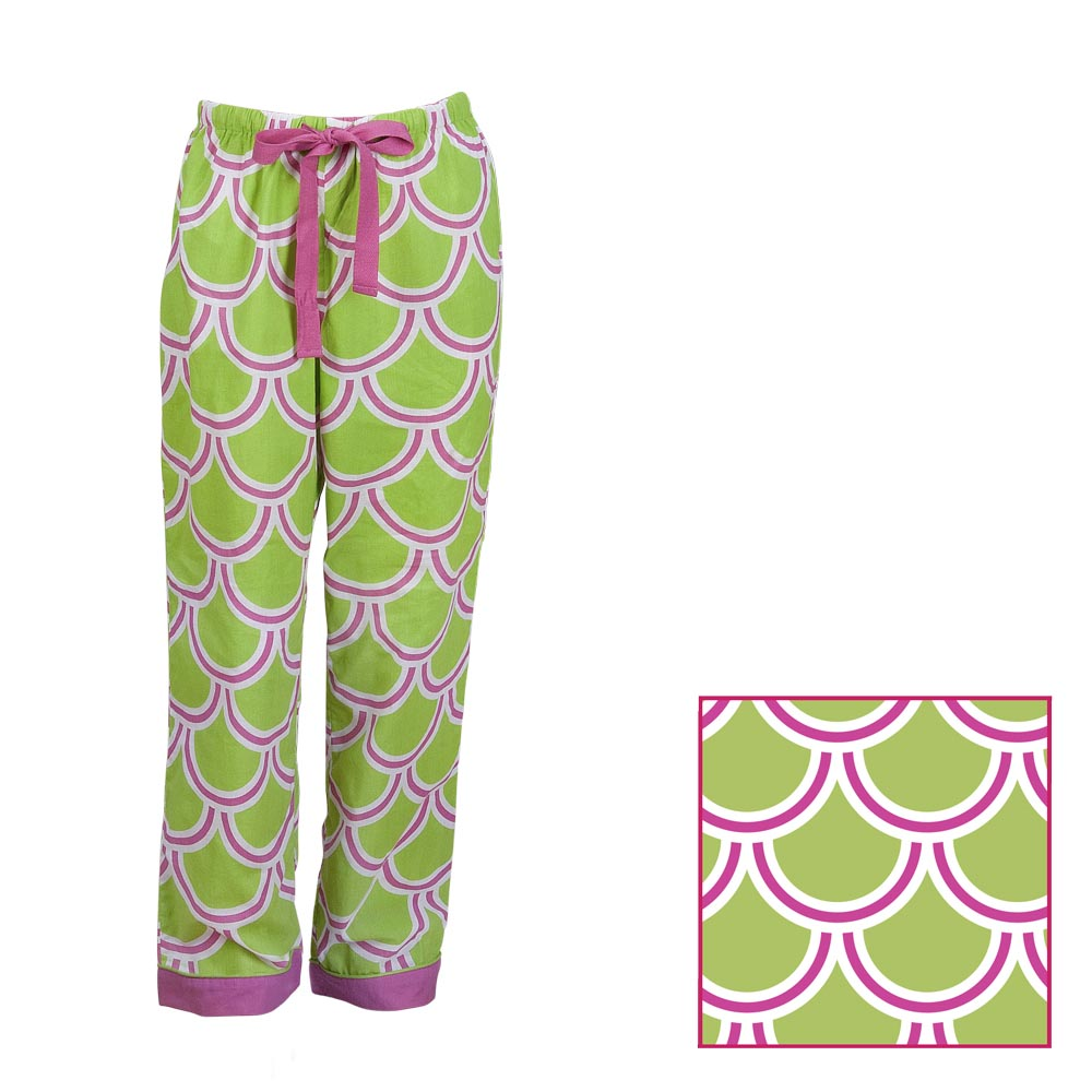 harbor bae green/pink kids lounge pants