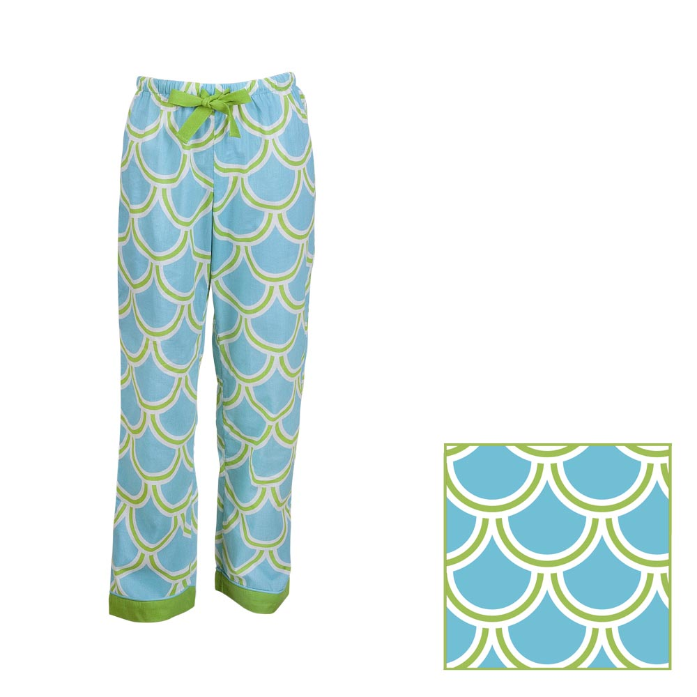 harbor bae turquoise/green kids lounge pants