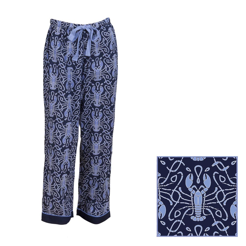 maine squeeze navy/cornflower kids lounge pants