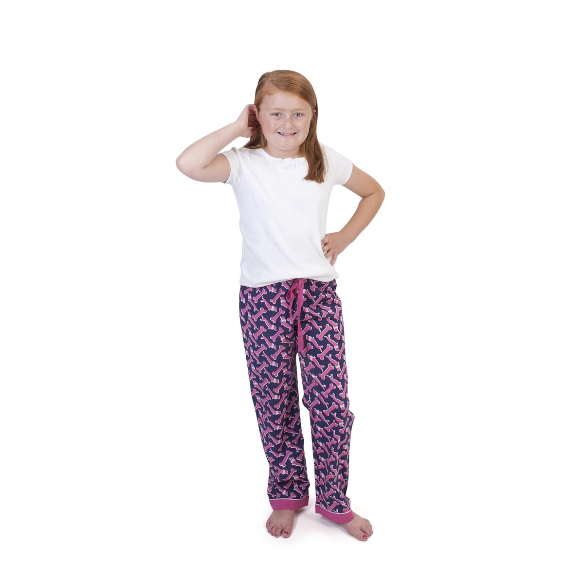 so fetch navy/pink kids lounge pants
