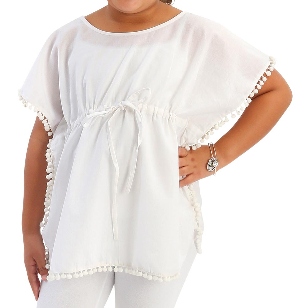 white sadie kids tunics