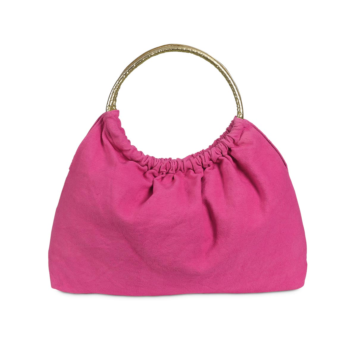 lauren tote pink, gold handle