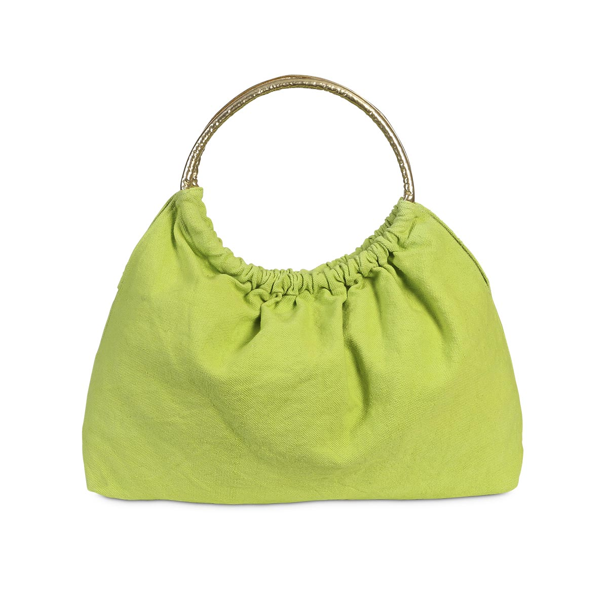 lauren tote green, gold handle