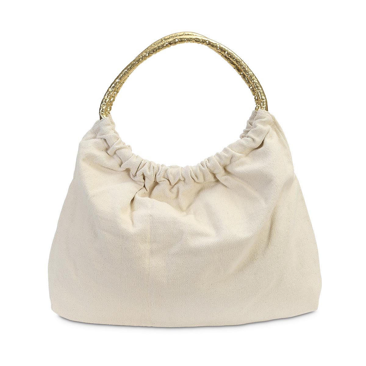 lauren tote natural, gold handle