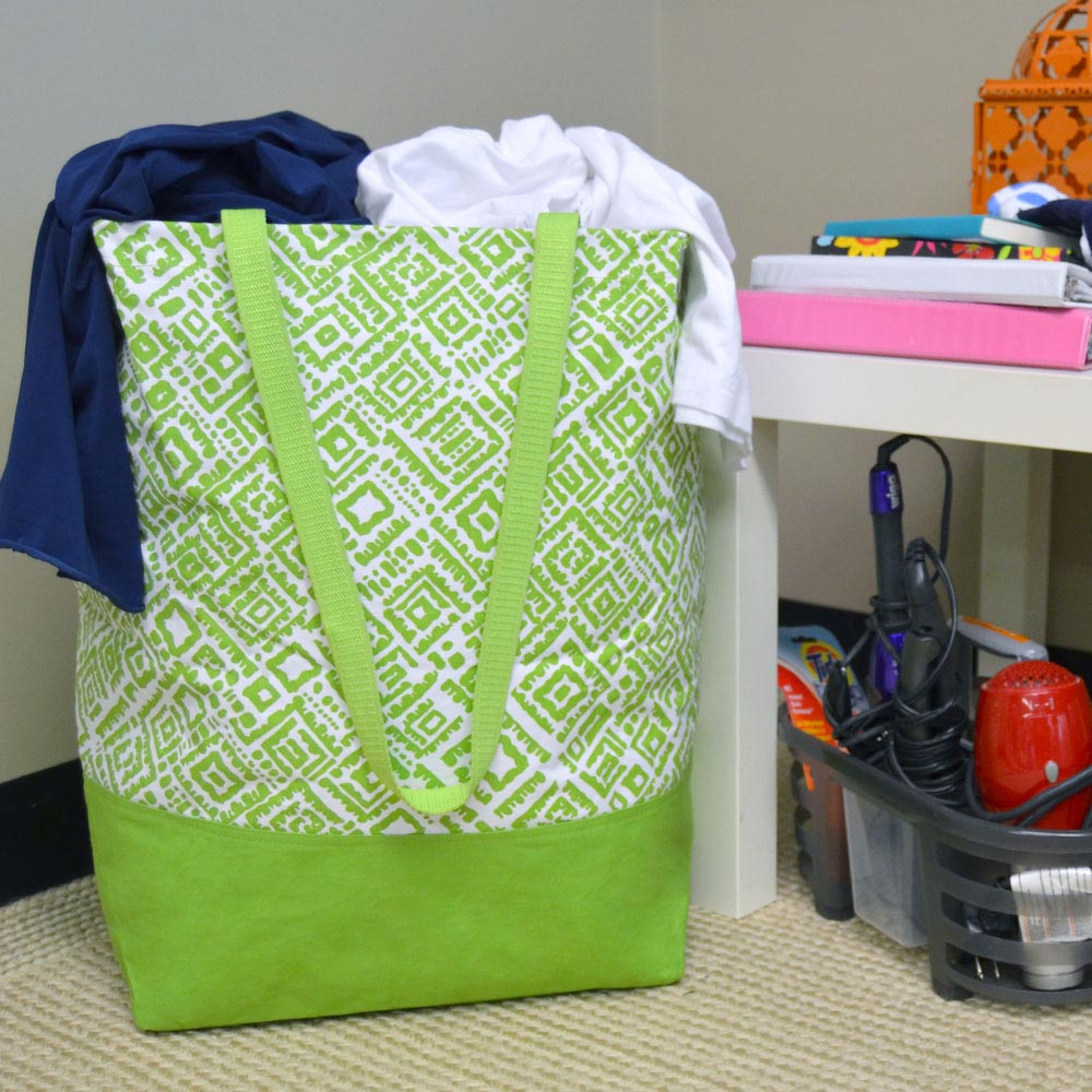alma lime green large crunch storage tote