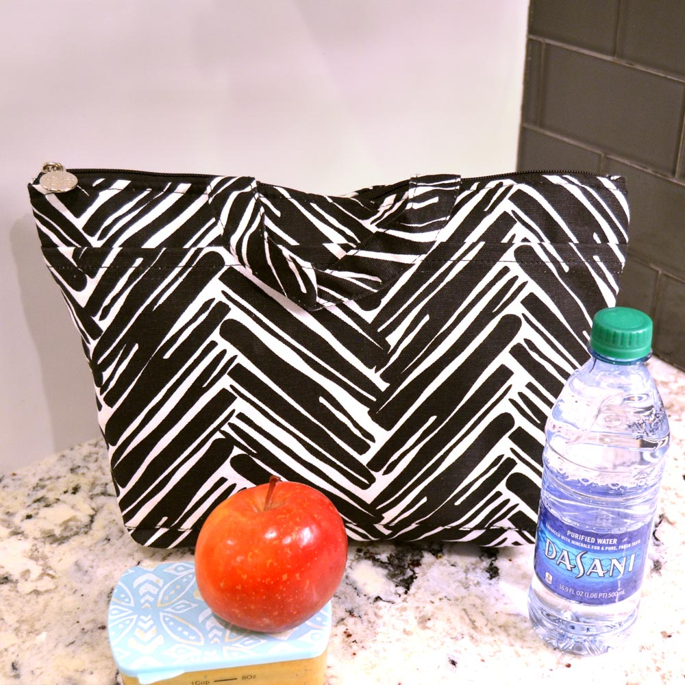 twill do black lunch tote