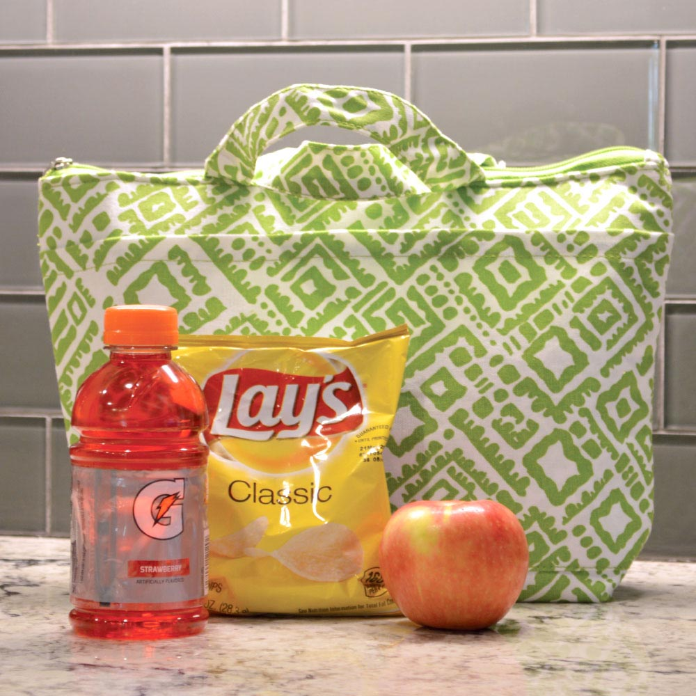 alma lime green lunch tote