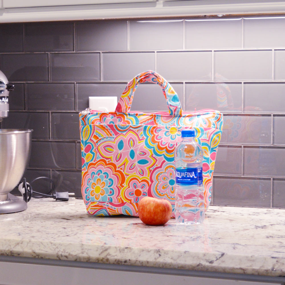 flower power lunch tote