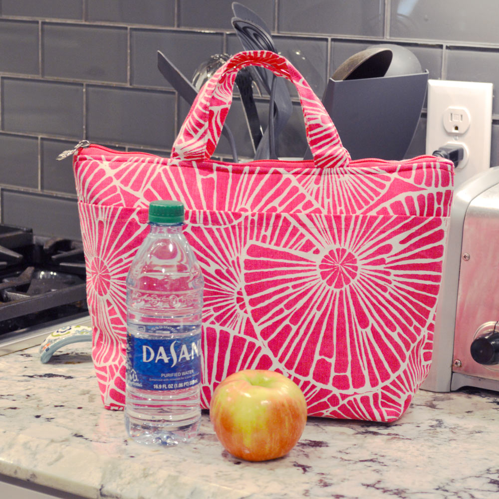 full circle pink lunch tote