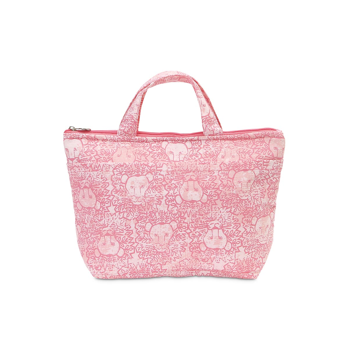 lion around pink lunch tote